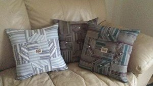Memory Pillows made from two western shirts