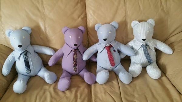 Bear Neccessities- Miniature Necktie from a Man's Necktie